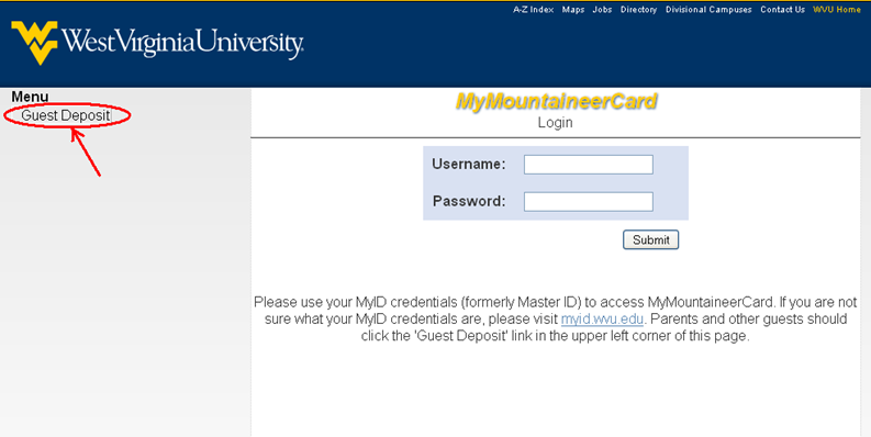 My Mountaineer Card >> Mymountaineercard